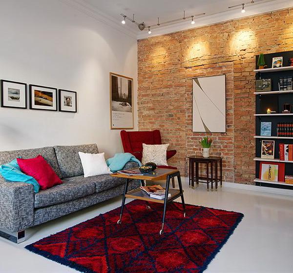 Дизайн однокомнатной квартиры с нишей в современном стиле 139