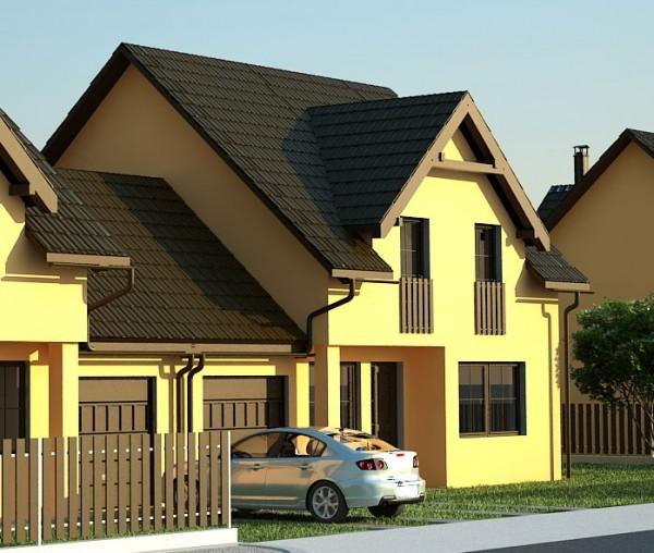 экономичный дом на две семьи