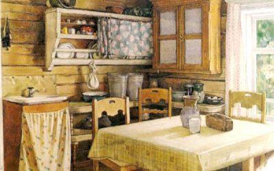 интерьер деревенской кухни