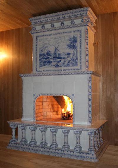 майолика, печь, камин, изразцы