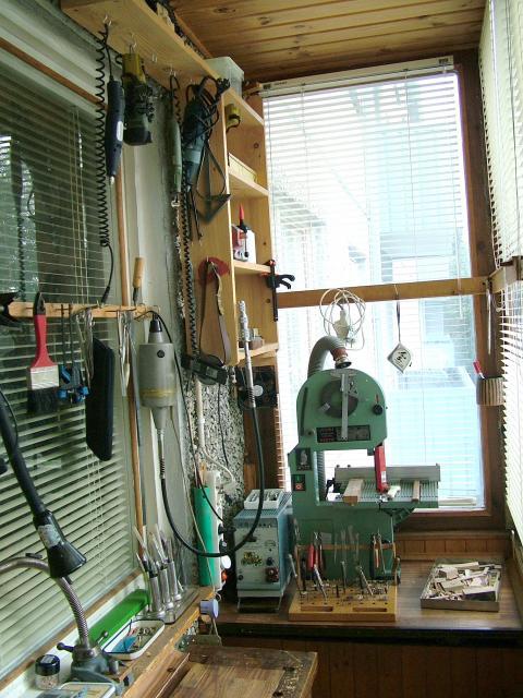 мастерская на балконе