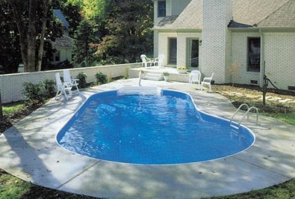 готовый пластиковый бассейн