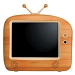 телевизор в дереаяной раме