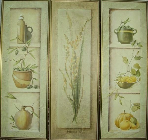 художественная роспись стены для кухни