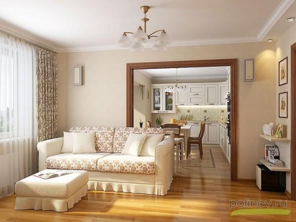 Дизайн интерьера гостиной и столовой