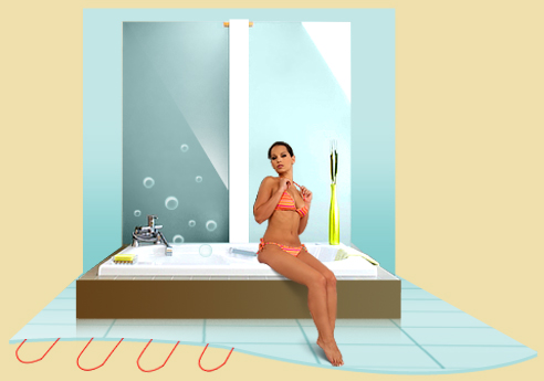теплый пол в ванной
