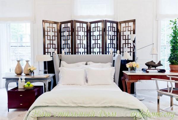 Винтажные ширмы в интерьере квартиры