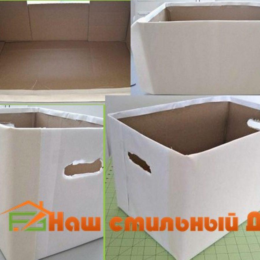 контейнер для хранения из коробки
