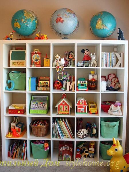 стеллажи для хранения игрушек