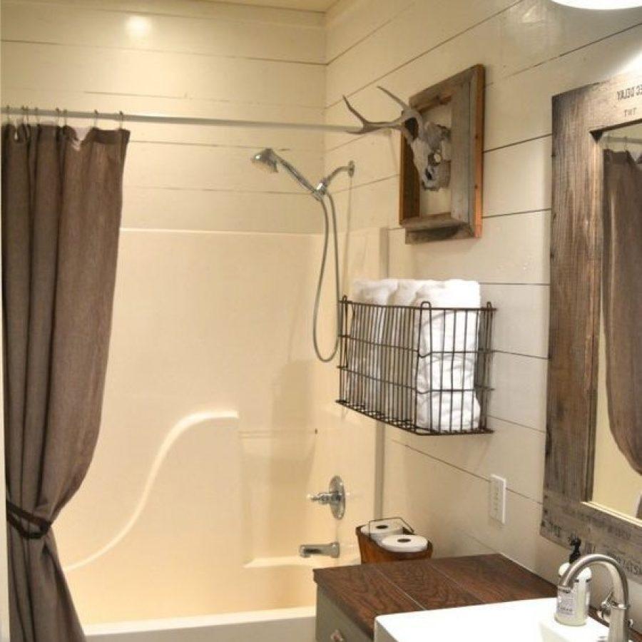 деревенский декор в ванной