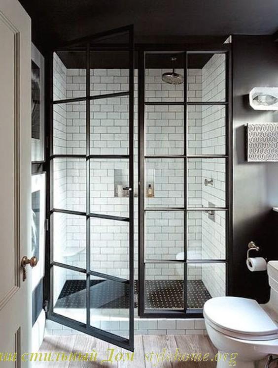 в стиле ретро душ