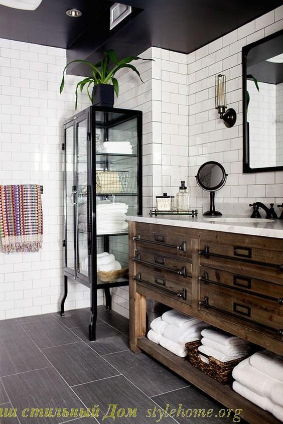 ретро стиль в ванной