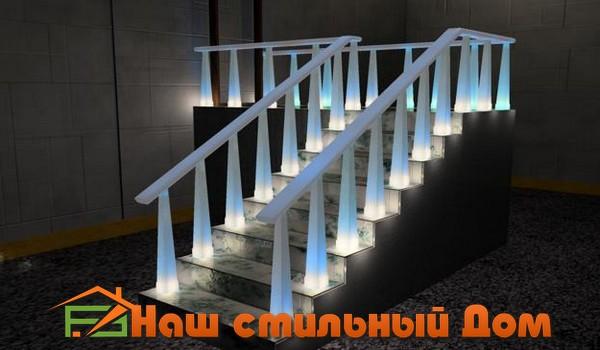 освещенная лестница, дизайн освещения лестницы