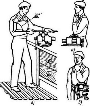 как установить тиски
