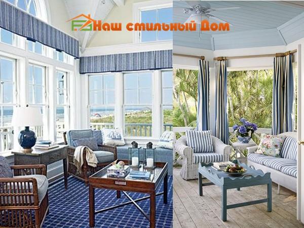 Гостиная в морском стиле