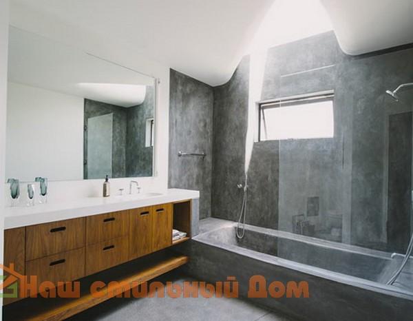 Гармоничная ванная комната с душем