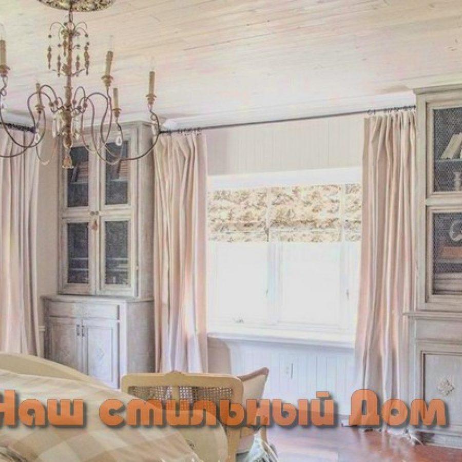 интерьер спальни в французском сельском стиле