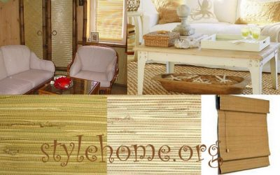 циновки, джут, бамбук - эко-стиль