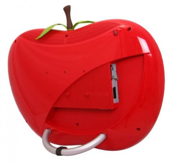 Красное яблоко - телевизор