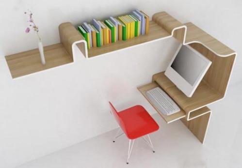 креативный стол с полкой