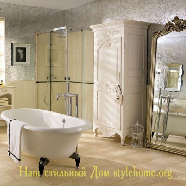 интерьер ванной в английском стиле