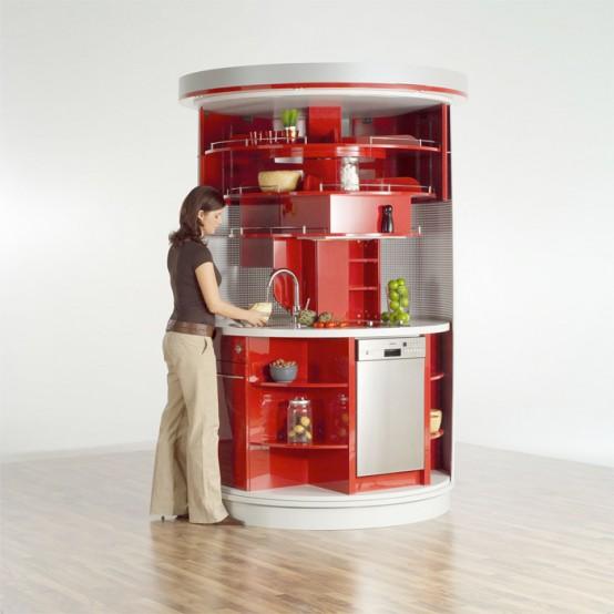 компактная круглая кухня