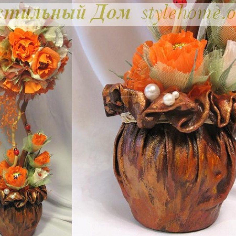 декор, ваза с цветами