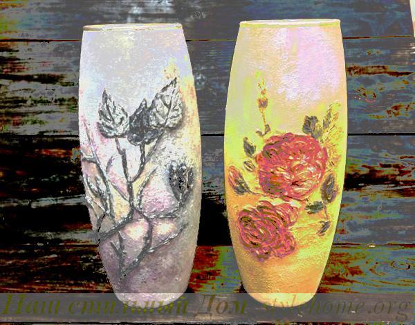 декорирование старой вазы