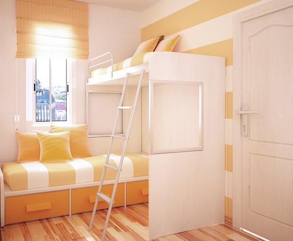 Интерьер детской комнаты для двух