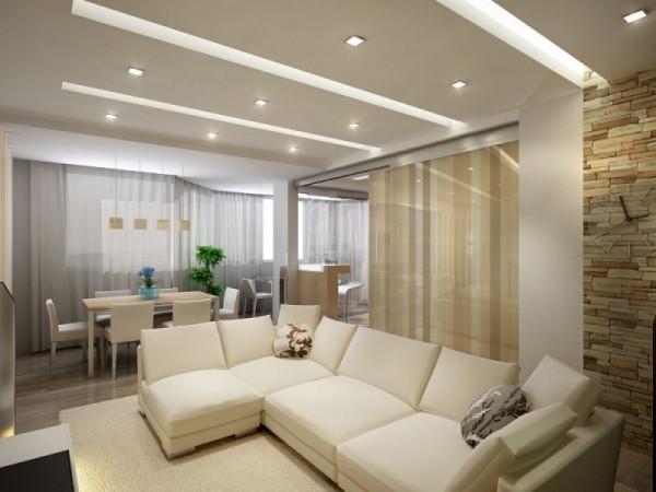 гостиня и столовая зона