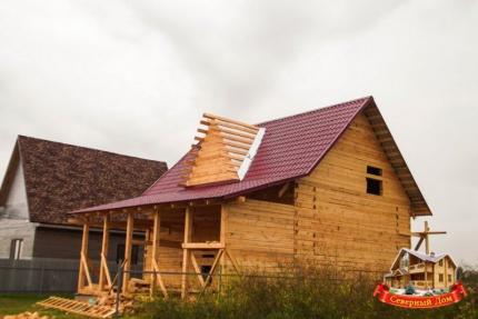 Стиль дачного деревянного дома и бани