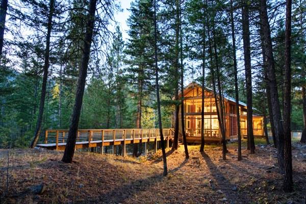 экологичный дом на природе