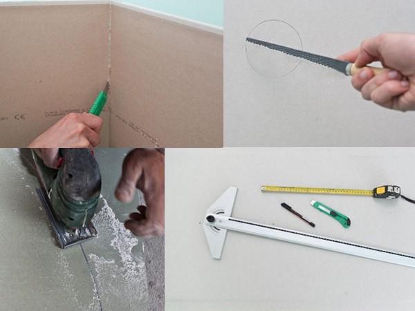как самостоятельно нарезать гипсокартон