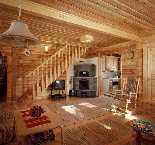 деревянный дом, интерьер