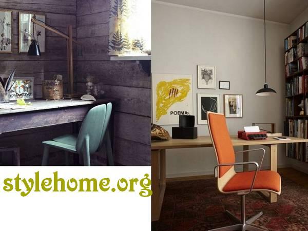 домашний кабинет в стиле ретро