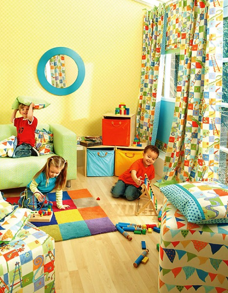 штора, окно в детской