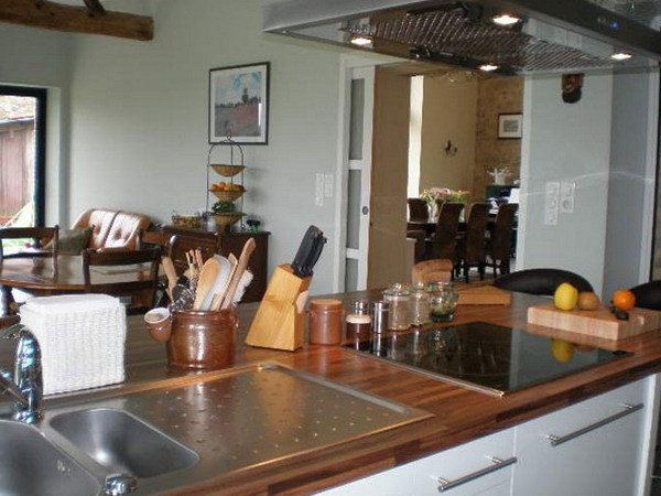 интерьер кухни, плита