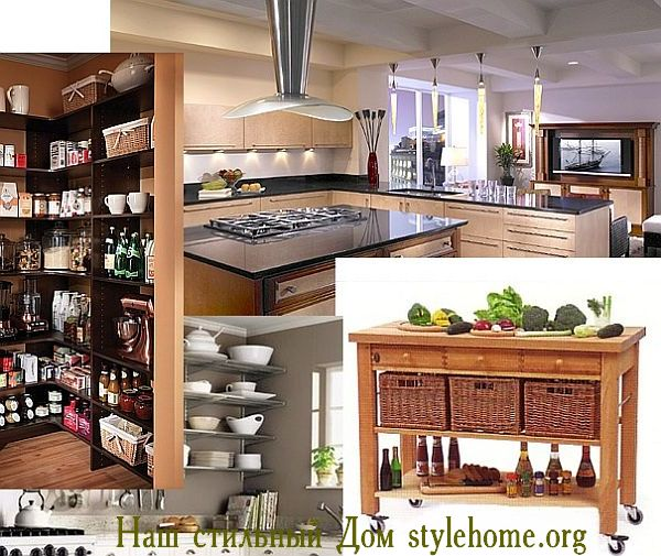 как увеличить пространство в кухне