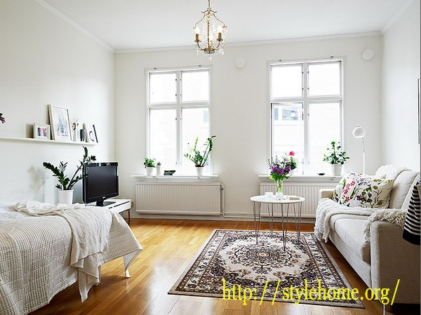 Однокомнатная квартира - эргономичный интерьер