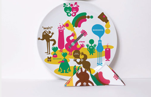 рисунки на посуде