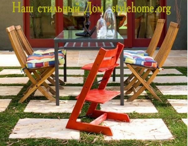 деревянная мебель для сада и веранды