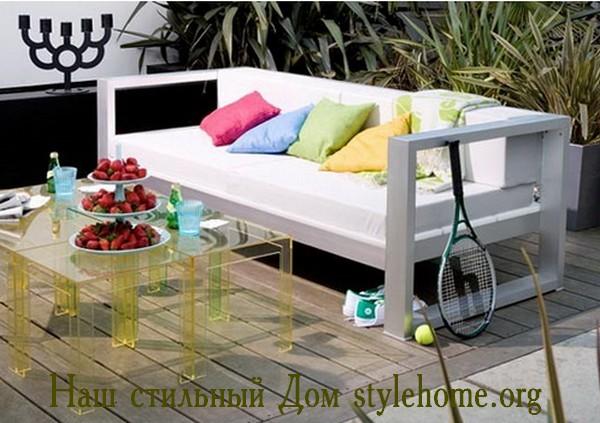 легкий пластик для садовой мебели