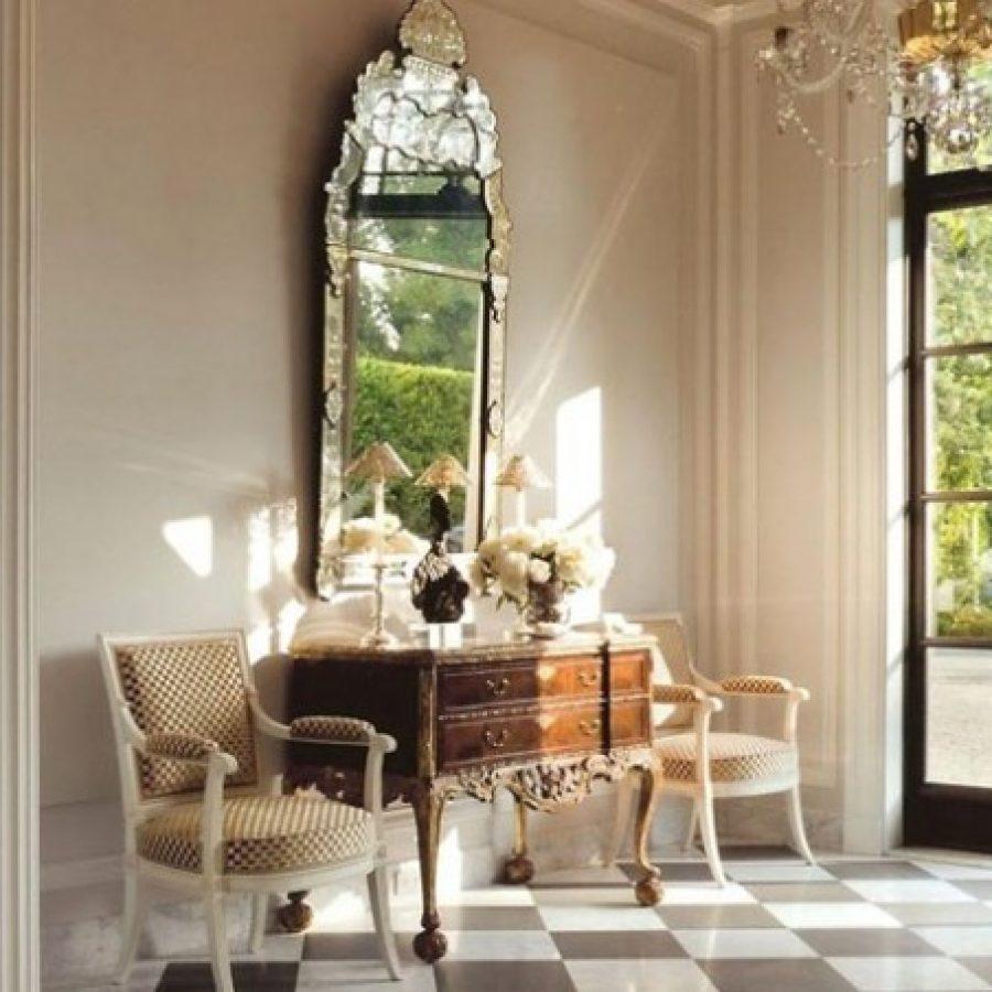классический интерьер, зеркало