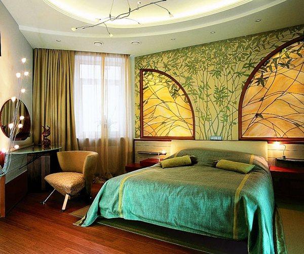 интерьер спальни, стиль модерн