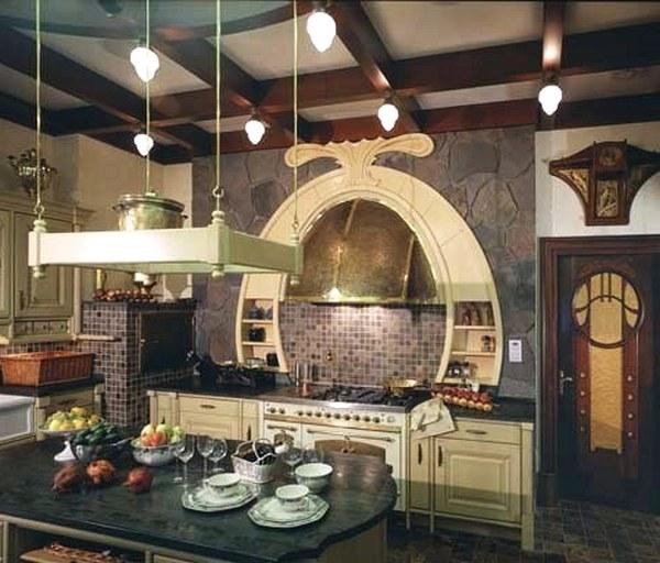 стиль арт-нуво в кухне