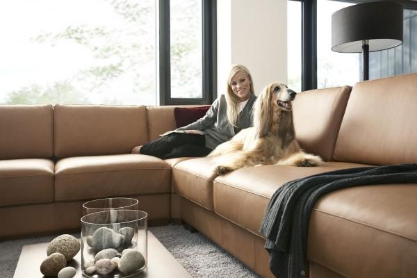 диван из кожи  компании Pohjanmaan
