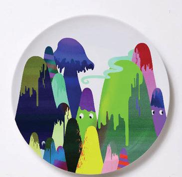 рисунок на посуде