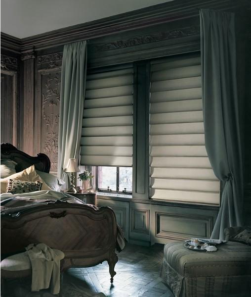 современный декор окна шторы в интерьере