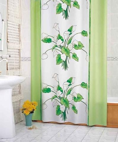 шторы с цветами в ванной