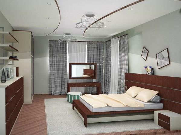 спальня в современном оформлении